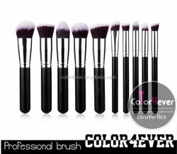 Color4Ever 10PCS Synthetic Hair Make-up Cosmetics Professional Makeup Brushes Set