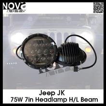 75w Cob Led Work Light 7inch Led Work Light for Pickup, Truck