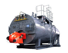 Horizontal gas or oil fired boiler heater