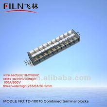 2-pole combined terminal blocks 5.0mm TD-10010