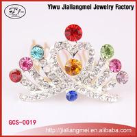 Colorful rhinestone crowns pageant tiaras , miss world tiaras, wedding bridal crown tiara