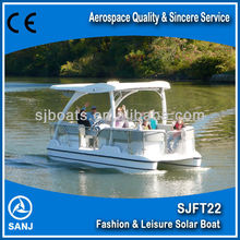 High quality leisure boat sightseeing solar boat for friendly enviroment