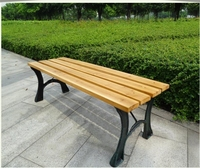Outdoor furniture cheap composite plastic patio wooden slats for bench