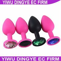 3*7CM NEW Silicone Anal Toys Diamond Crystal Jewelry Butt Plugs Insert Stopper Anal Dildo Anal Sex Products for Men
