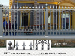 ISO certificated Decorative aluminum garden fence AJLY-902
