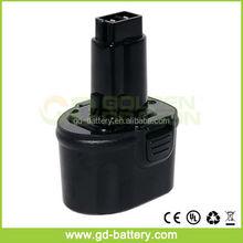 Replacement power tool battery for Dewalt 7.2V DE9075 2.0Ah Ni-CD DE9085