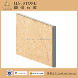 Sunny beige composite compound marble with ceramic decorative home floor tiles