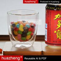Mouth Blown Borosilciate Glass/Double Glass Cups,Glass shots