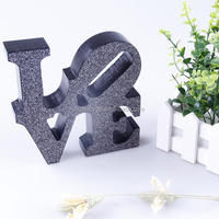 Free standing decorative 3d wooden letters