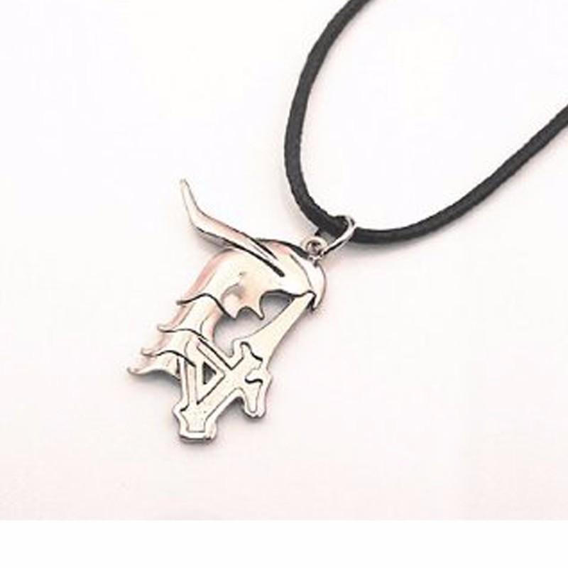 anime bleach no ulquiorra schiffer logo necklace pendant