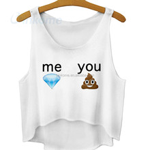 Ice cream printed me and you lady Vest Tank Top Wholesale Croptop wholesale lady costume
