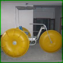 Summer new design amusement lake and sea water trike bike/aquatic tricycle for sale