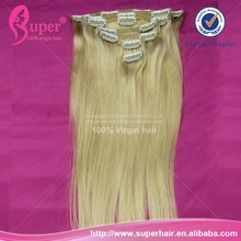 Mixed color clip in hair extension,silky hair,long hair claw clip ponytail