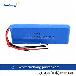 Factory price 12v 22ah 18650 2000mah SUNB 12v 22Ah 12000mAh power tools use li-ion 18650 battery used electric car