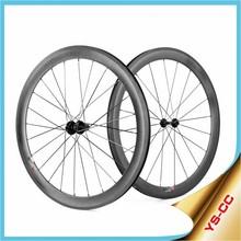LIGHTCARBON Carbon Wheel Set 700c CC550C Profile 55mm for Both Clincher and Tubeless, Private Mode Carbon Wheel Set 700c
