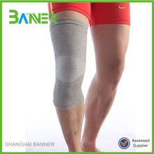 Breathable sports elastic brace protector knitted bamboo knee support