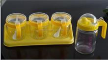 Glass oil bottle/glass kitchen set/glass cruet bottle