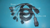 high quality auyomobile cable :Can OBD to double DB sub 9 female