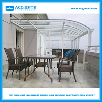 Used prefabricated aluminum sunroom garden glass house for sale