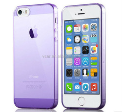 Clear Silicone Rubber TPU Case for Iphone 5 5s,Ultra Thin Slim Back Case Cover for Iphone 5 5s