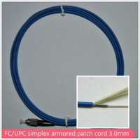 armoured patch cord with fc connector g652 optic fiber