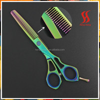 Color tattoos of hair scissors