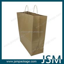 Reciclado kraft marrón shopping paper bag 2015