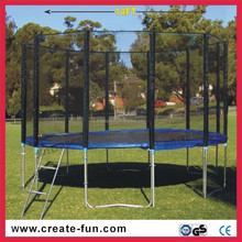 CreateFun cheap different size outdoor garden use large kids trampoline with enclosure