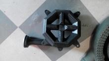 Matte enamel cast iron octangle gas burner