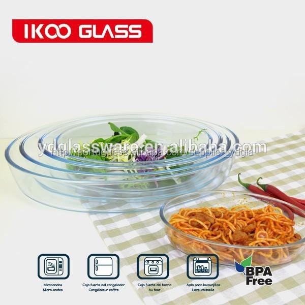 Oval 3.2l cristal de microondas de vidro pyrex assadeira