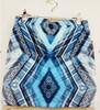 Fashion Turkey style ,mini short skirt flower printing above knee skirt
