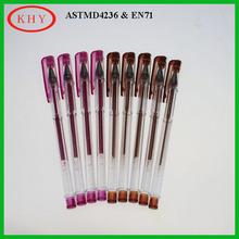 Stationery set metal tip glitter gel ink pen for office and school
