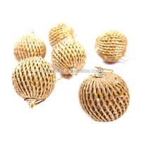 Christmas tree decoration yellow spiral christmas ball , Supplies hanging new year santa claus gift