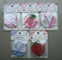 Fruits Paper Air Fresheners, Custom Design, Long Lasting Air Freshener