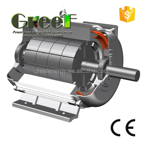 3mw permanent magnet generator for wind generator for for Turn an electric motor into a generator