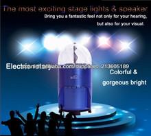 Coloridos mini giratorias luces de la proyección con el altavoz para fiesta