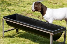 Automatic plastic livestock drinking trough widely used in pasture/Large plastic hook over feed trough for horse,cow,calf,goats
