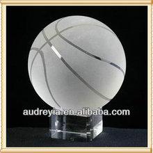Wholesale custom made crystal basketball with base
