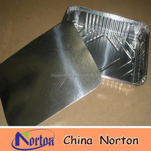 high quality coated aluminum foil food container with lid NTP- ALF212B