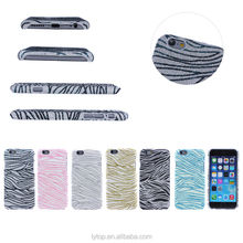 Zebra colorful changing Shining PC hard phone case For iPhone 6