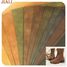 Lady boots Two tone embossed material factory wholesale leather