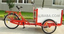 ice cream bike street vending tricycle for sale/Cargo Cycle Truck 3 Speed