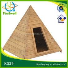 triangle design wood dog house fine pet product