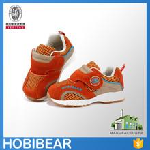 HOBIBEAR fashion design comfortable velcro toddler footwear baby kids sport shoes