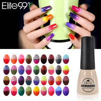 Elite99 Chameleonic 3D Nail UV Gel Polish Manicure Thermo Gel Coating Pick 1 or Top Base Coat Free Tip Guides Chameleon Varnish