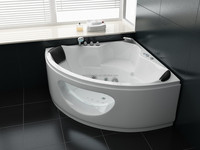 corner massage bathtub, glass bath tub