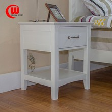 Home European furniture IKEA style solid wood table small side cabinet lamp cabinet single pumping white corner a few nightstand
