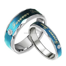 New Model Blue Plated Forever Love Wedding Ring Wholesale Fashion Jewerlry