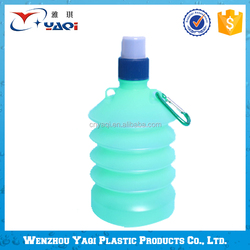 Made In China Excellent Material Folding Plastic Water Bottle With Straw