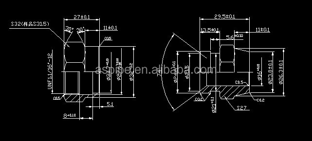 hydraulic fitting / pipe fitting / steel pipe fitting